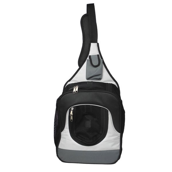 Single Strap Over-the-shoulder Navigation Hands Free Backpack and Front Pack Pet Carrier