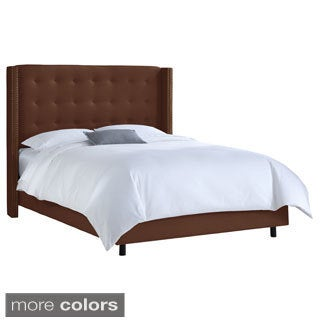 Button tufted King Wingback Bed