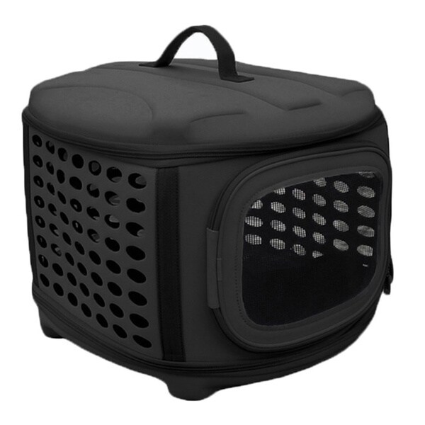 Circular Shelled Military Grade Perforate Lightweight Collapsible Transporter Pet Carrier