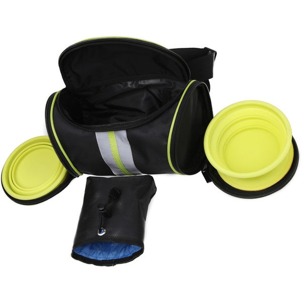 The Ultimate Hands Free Food and Water Travel Waistband Pouch Belt