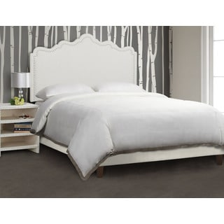 Jennifer Taylor White Linen Ela Upholstered Headboard