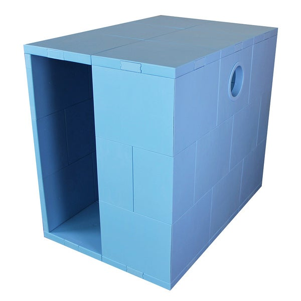 Elevated Standard Pego Blue Pet House