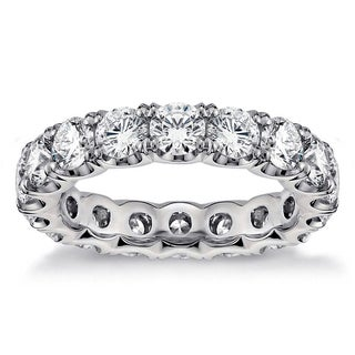 White Gold or Platinum 3 3/4ct TDW Round Diamond U-shape Eternity Band (F-G, SI1-SI2)