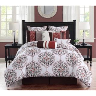 Journee Home Andorra Embroidered Reversible 10-piece Comforter Set