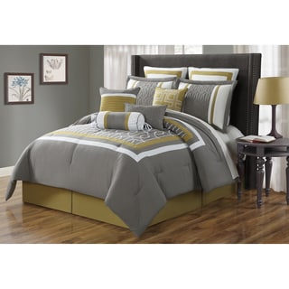 Journee Home Gibralter Embroidered 10-piece Comforter Set