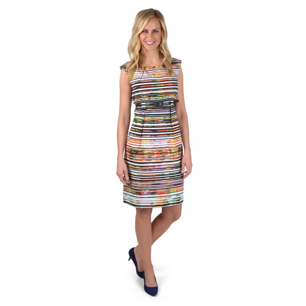 Shelby & Palmer Women's Belted A-line Dress
