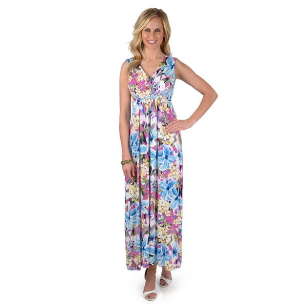 Skye's the Limit Women's Sleeveless Printed Maxi Dress