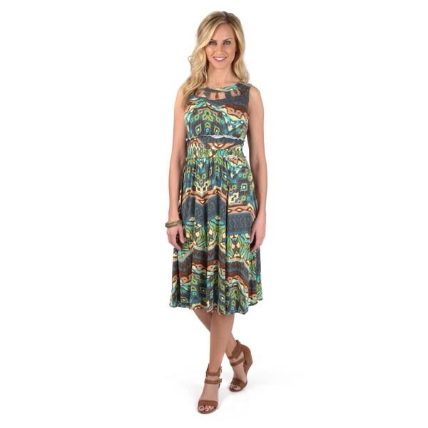 Sangria Women's Sleeveless Printed Dress