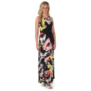 Sangria Women's Printed Sleeveless Maxi Dress