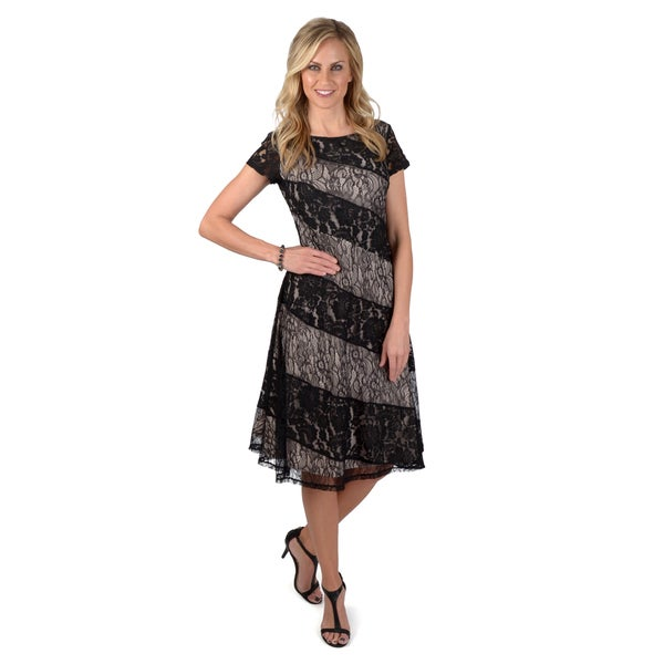 Sangria Women's Lace A-line Dress