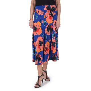 Timeless Comfort by Journee Women's Flowing Fold Over Panel Skirt