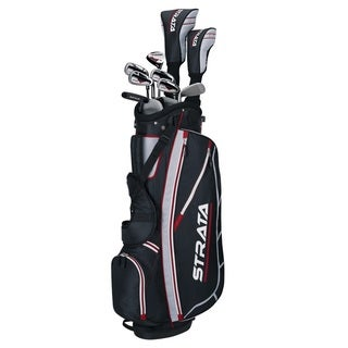 Callaway Men's Left-Handed Strata Complete Set Golf Clubs With Bag