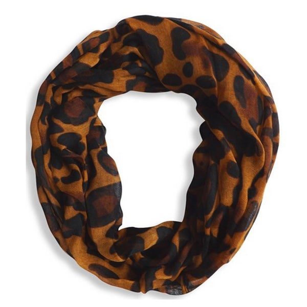 Peach Couture Animal Print Infinity Scarf