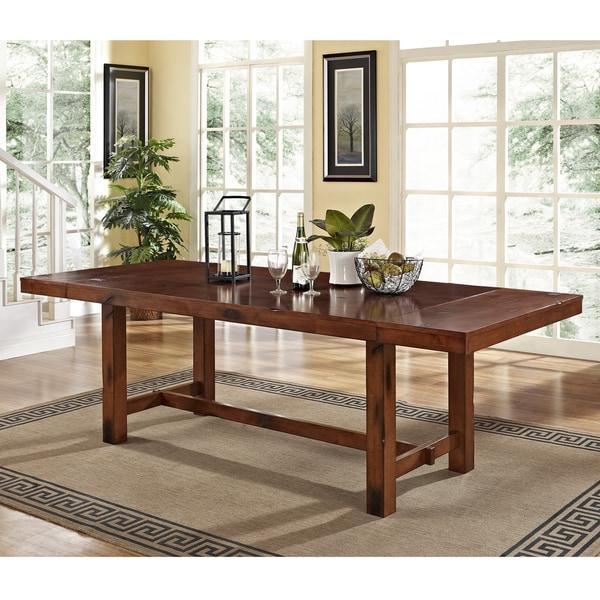 Rustic Dark Oak Wood Dining Table 17233865 Overstock