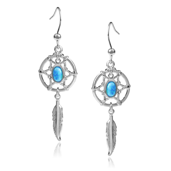 Journee Collection Opal Dream Catcher Dangle Earrings