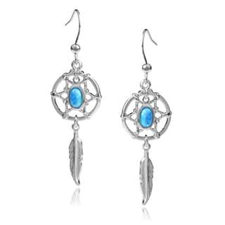 Journee Collection Opal Dream Catcher Dangle Earrings