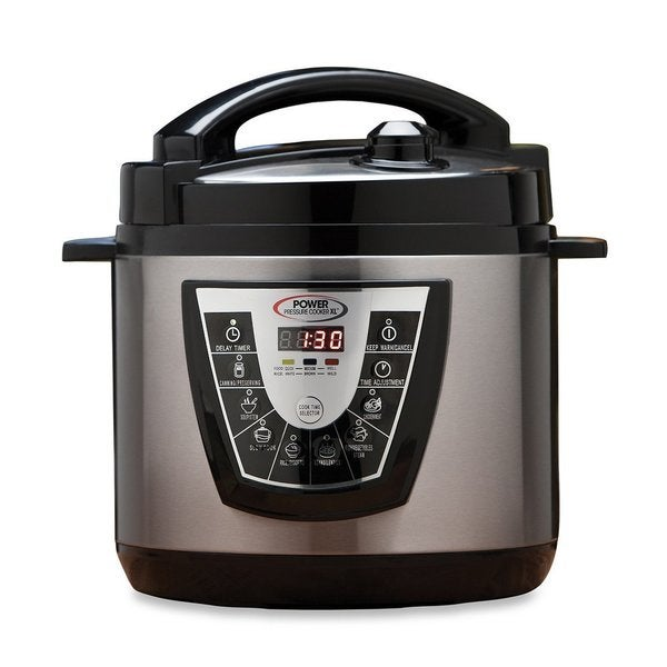 Power Pressure Cooker XL Flavor Infusion Technology 6-Quart, (Silver/Black)