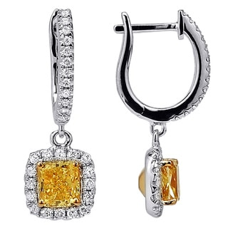 18K White Gold 1 1/2ct TDW Diamond Fashion Earrings (H-I/SI)