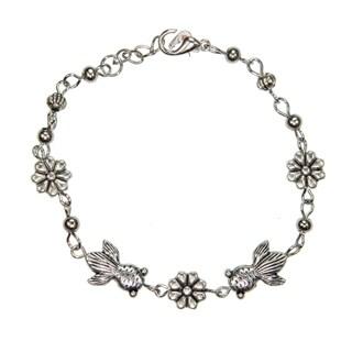 Handmade Tibetan Silver Goldfish Bracelet (China)