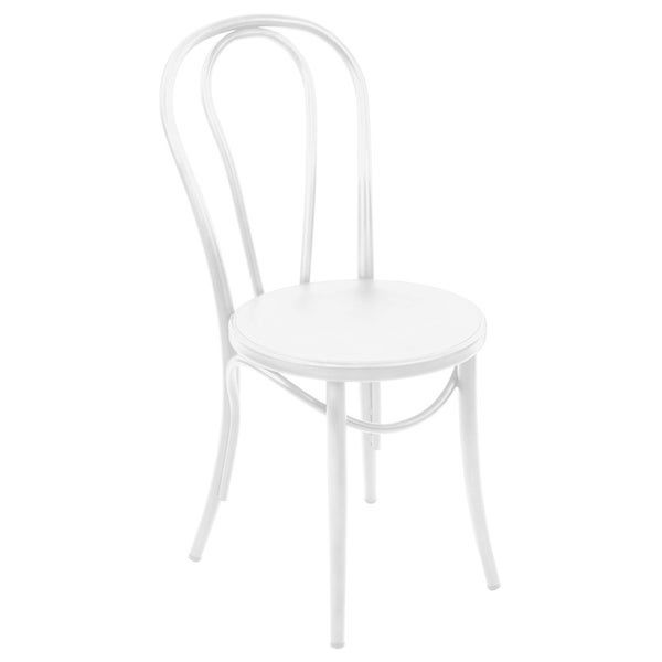 Belmont White Retro Bentwood Steel Side Chair (Set of 2)