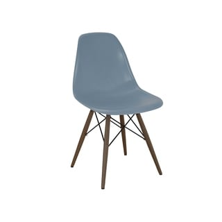 Mid Century Slate Side Chair with Walnut Wood Base (Set of 5)