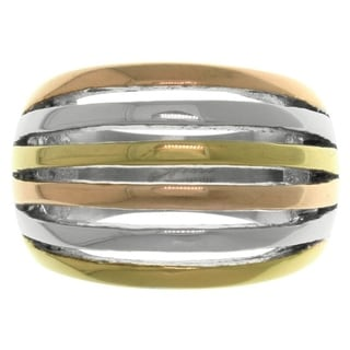 CGC Triple-tone Stainless Steel Cutout Stripe Ring