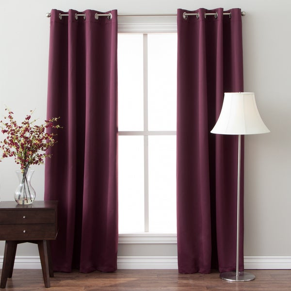 96 inch insulated grommet top blackout curtain panel pair
