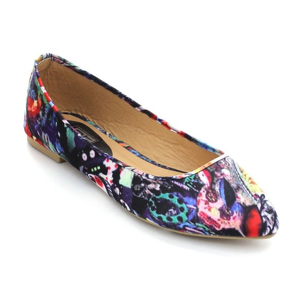 City Snappers Women's Printed Slip-on Ballet Flats