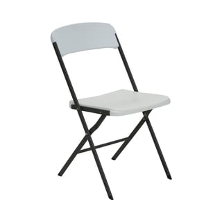 Contemporary Residential White Granite Folding Chair (Set of 4)