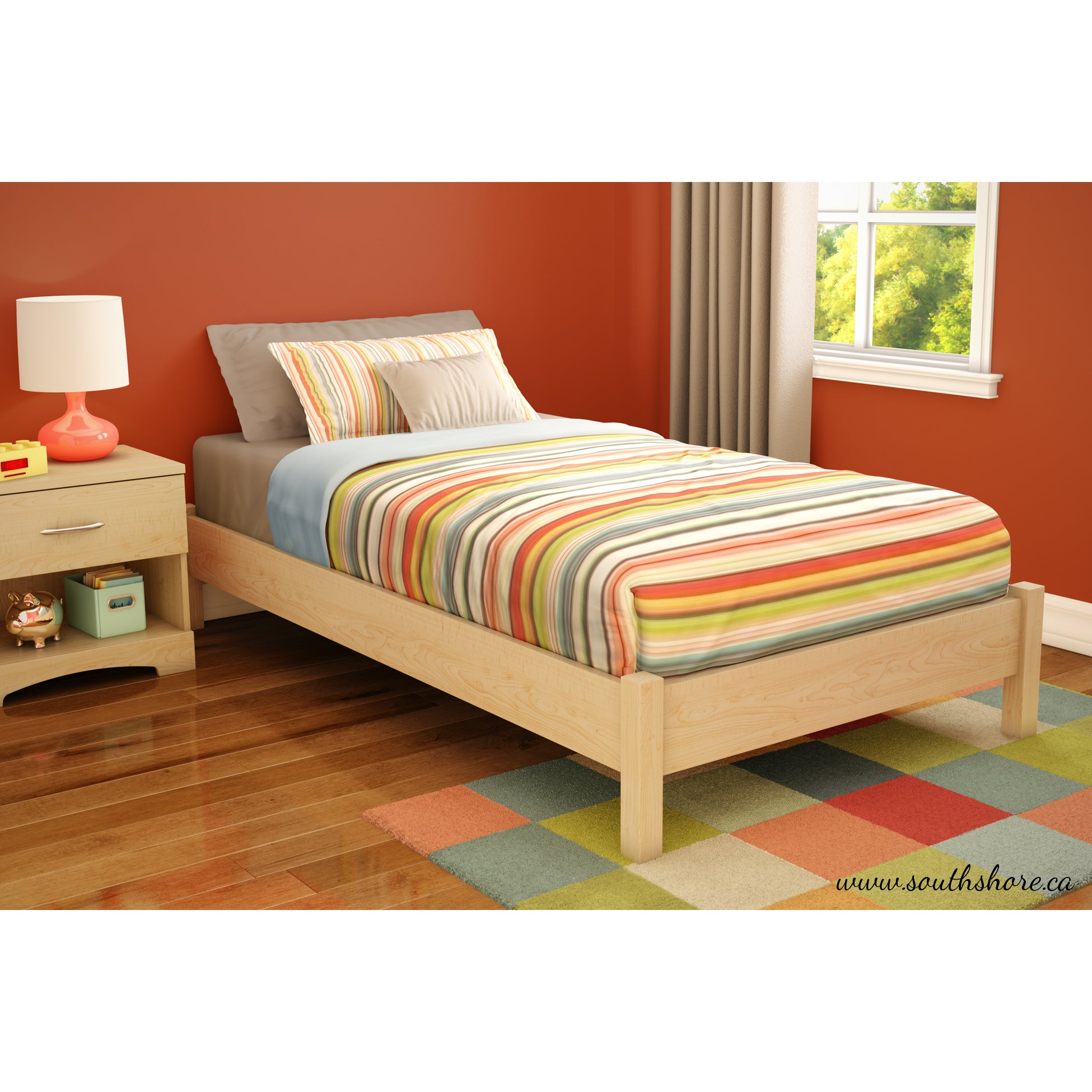 Twin platform bed frame - South Shore Step One 39 Inch Twin Platform