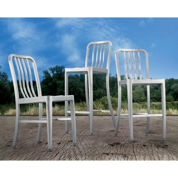 Gastro Brushed Aluminum Dining Chair