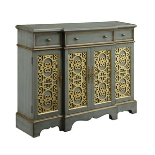 Christopher Knight Home Leeland Blue Grey Three-drawer Four-door Media Credenza