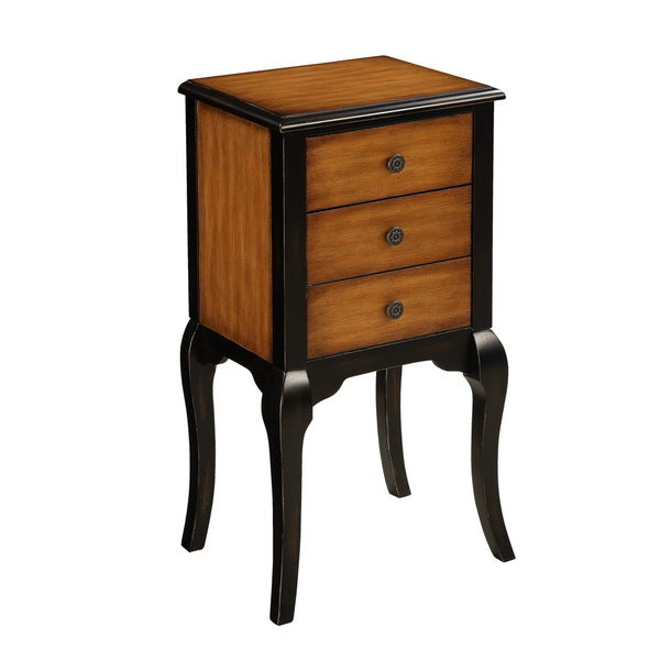 Christopher Knight Home Warm Honey/ Black Three-drawer Chest on Stand