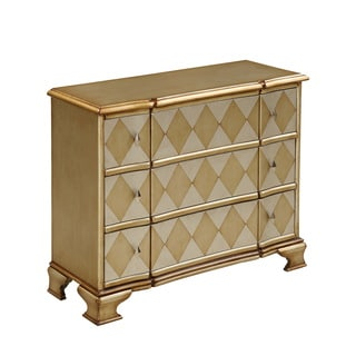 Christopher Knight Home Metallic Champagne Three-drawer Chest