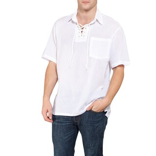Men's Sheer Open Neck Beach Shirt (Thailand)