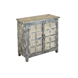 Christopher Knight Home Hansi Grey with White Wash Two-door Cabinet