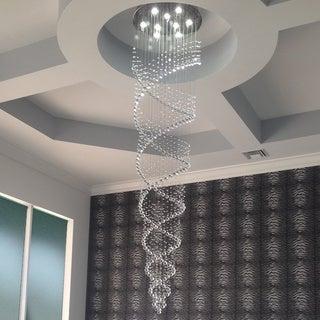 Celestina Crystal Suspension Spiral Chandelier