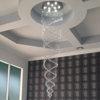 Celestina Crystal Suspension Spiral Chandelier