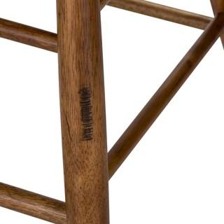 Solid Medium Oak Windsor Back Swivel Counter Height Bar