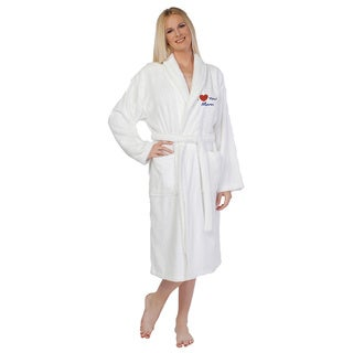 Authentic Hotel and Spa 'I Love You Mom' Monogrammed Terry Cloth Turkish Cotton Bath Robe