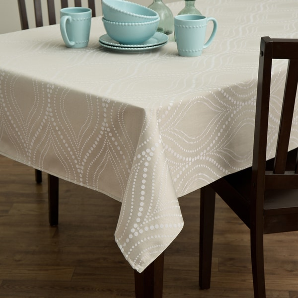 Ash Ogee Dot Tablecloth
