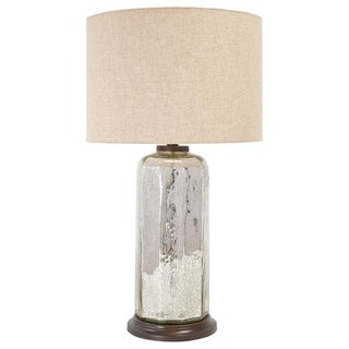 Signature Design by Ashley Sharlie Silver Glass Table Lamp