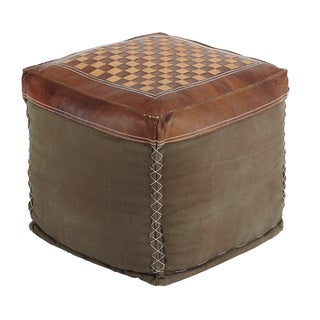 Signature Design by Ashley Patchwork Brown Pouf