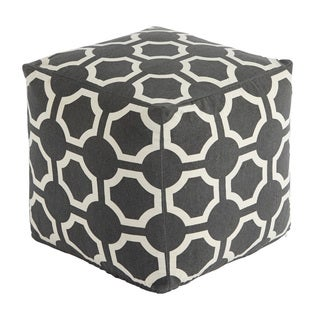 Signature Design by Ashley Geometric Gray Pouf