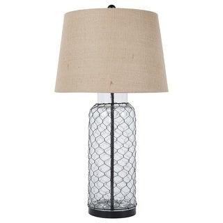 Signature Design by Ashley Sharmayne Transparent Glass Table Lamp