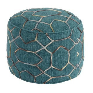 Signature Design by Ashley Overdyed Dark Green Pouf