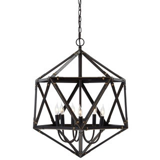 Signature Design by Ashley Fadri Bronze Metal 6-light Pendant