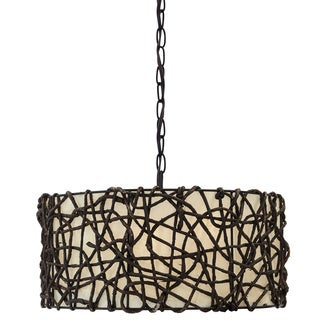 Signature Design by Ashley Earleen Natural 3-light Pendant