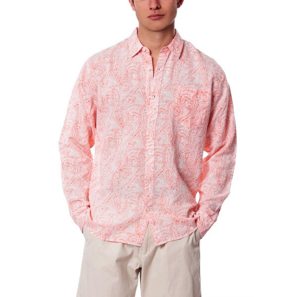 Men's Sea Change Paisley Linen Shirt