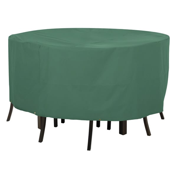 Classic Accessories Atrium Green Round Patio Table and Chair Cover 17